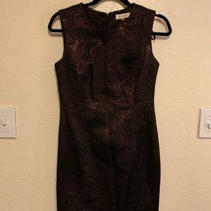 Calvin's Klein Black Snakeskin Dress
